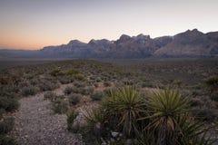 Coucher du soleil rouge 2 de canyon de roche Photo libre de droits