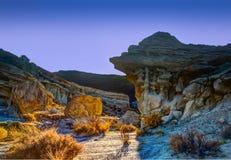 Coucher du soleil rouge de parc d'état de canyon de roche photos stock