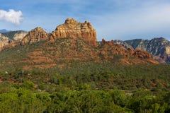 Coucher du soleil rouge de roche de Sedona Images stock