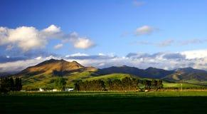 Coucher du soleil rural merveilleux Image stock