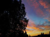 Coucher du soleil russe d'été Image stock