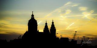Coucher du soleil saint d'Amsterdam Photos libres de droits