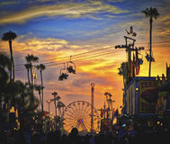 Coucher du soleil, San Diego County Fair, la Californie Photo libre de droits