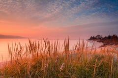 Coucher du soleil Sandy Hook Bay Photos stock