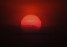 Coucher du soleil sanglant Photos libres de droits