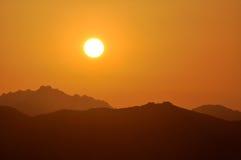 Coucher du soleil sarde Images libres de droits