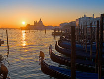 Coucher du soleil scénique à Venise Image stock