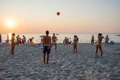 Coucher du soleil sicilien Images libres de droits