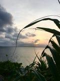 Coucher du soleil silencieux Photo libre de droits
