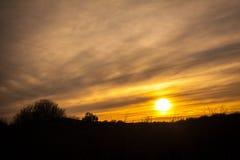 Coucher du soleil Sillhouette Image stock