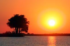 Coucher du soleil spectaculaire Photographie stock libre de droits