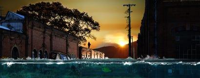 Coucher du soleil spectaculaire photos stock
