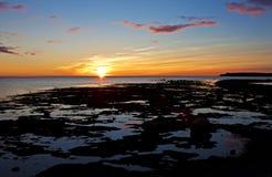Coucher du soleil splendide de Terre-Neuve Photos libres de droits