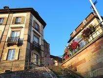Coucher du soleil à Strasbourg Image libre de droits