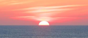 Coucher du soleil stupéfiant de Sylt Images stock