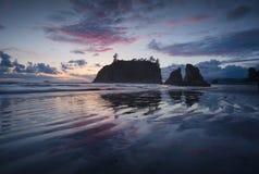 Coucher du soleil subtil de Washington Photographie stock libre de droits