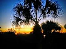 Coucher du soleil du sud de la Floride images libres de droits