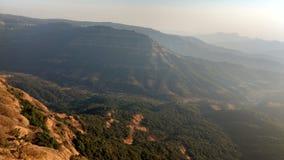 Coucher du soleil supérieur 65 de colline Image libre de droits