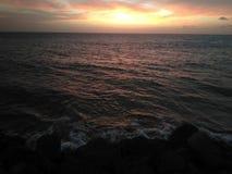 Coucher du soleil sur Aguada Puerto Rico Beach photos stock