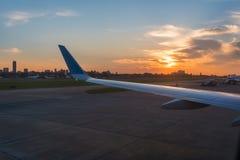 Coucher du soleil sur Buenos Aires en Argentine Images stock