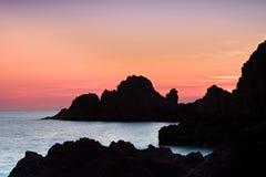 Coucher du soleil sur Cabo de Gata Photographie stock libre de droits