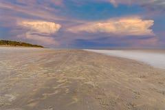 Coucher du soleil sur Hilton Head Island photographie stock libre de droits