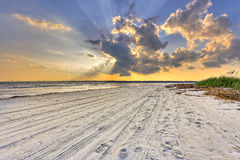 Coucher du soleil sur Hilton Head Island photo stock