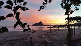Coucher du soleil sur Isla de la Piedra Image stock