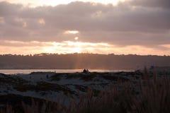 Coucher du soleil sur l'île de Coronado, la Californie Photo stock