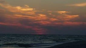 Coucher du soleil sur l'île de Sanibel images libres de droits
