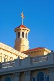 Coucher du soleil sur l'architecture de Scientology Photographie stock