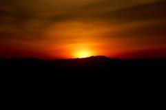 Coucher du soleil sur l'incendie Photos libres de droits