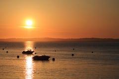 Coucher du soleil sur l'océan Photographie stock