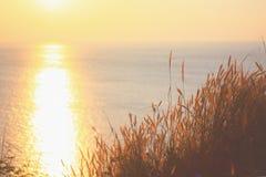 Coucher du soleil sur l'océan images libres de droits