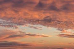 Coucher du soleil sur la baie Photo stock