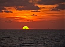 Coucher du soleil sur la baie de chesapeake photo stock