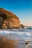 Coucher du soleil sur la côte de la Californie Image libre de droits