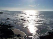 Coucher du soleil sur la côte de l'Orégon photo stock