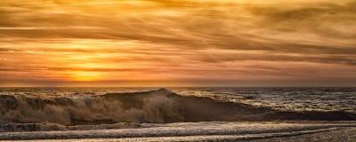 Coucher du soleil sur la côte de l'Orégon Image libre de droits
