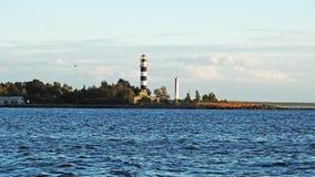 Coucher du soleil sur la côte de mer baltique Photographie stock