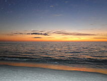 Coucher du soleil sur la Côte du Golfe de la Floride image stock