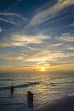 Coucher du soleil sur la clé de sièste Images libres de droits
