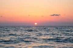 Coucher du soleil sur la Grèce Image libre de droits