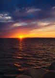 Coucher du soleil sur la mer japonaise Photo libre de droits
