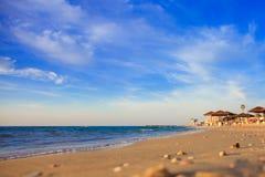 Coucher du soleil sur la mer Méditerranée Image stock
