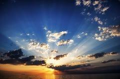 Coucher du soleil sur la Mer Noire Photos libres de droits