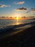 Coucher du soleil sur la Mer Noire Image libre de droits