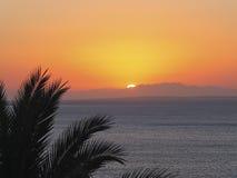 Coucher du soleil sur la Mer Rouge Photo stock