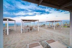 Coucher du soleil sur la Riviera Photographie stock