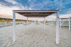 Coucher du soleil sur la Riviera Images libres de droits